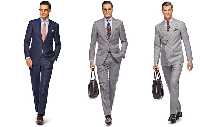 Trajes tailored fit para hombres